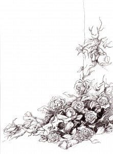 Blood Rose Swarm by Becca Bean